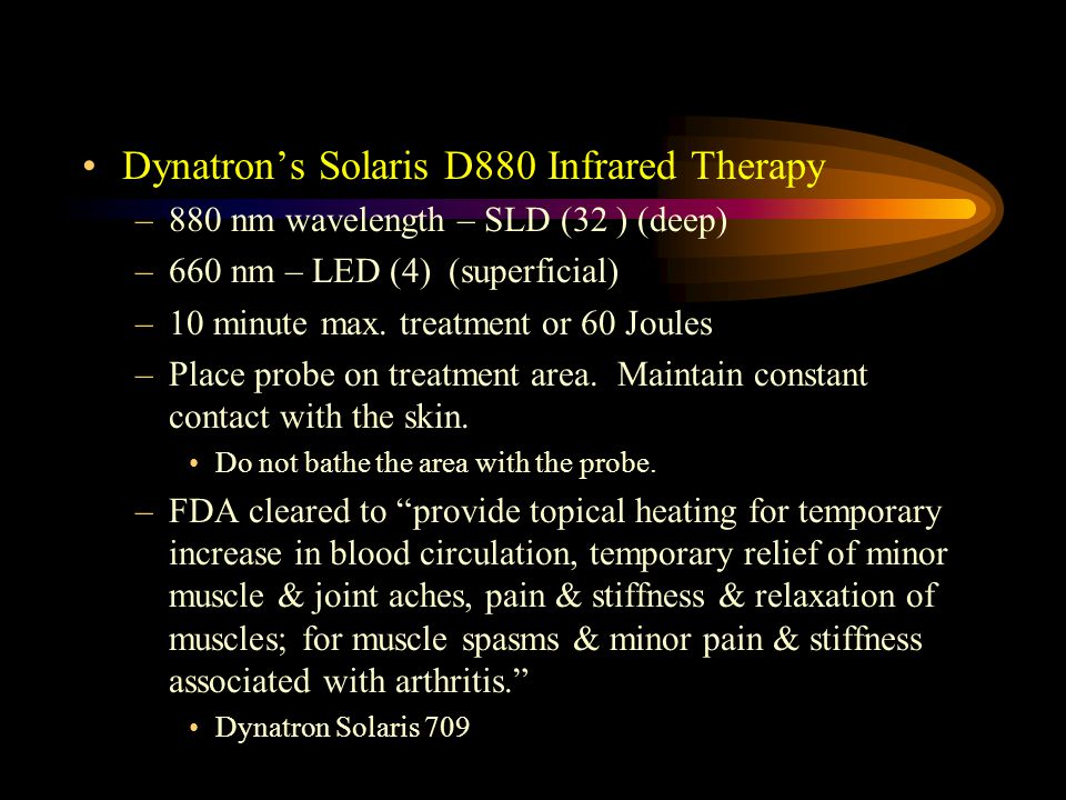 Dynatron's Solaris D880 Infrared Therapy