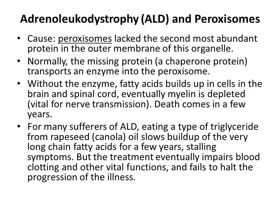 Adrenoleukodystrophy (ALD) and Peroxisomes