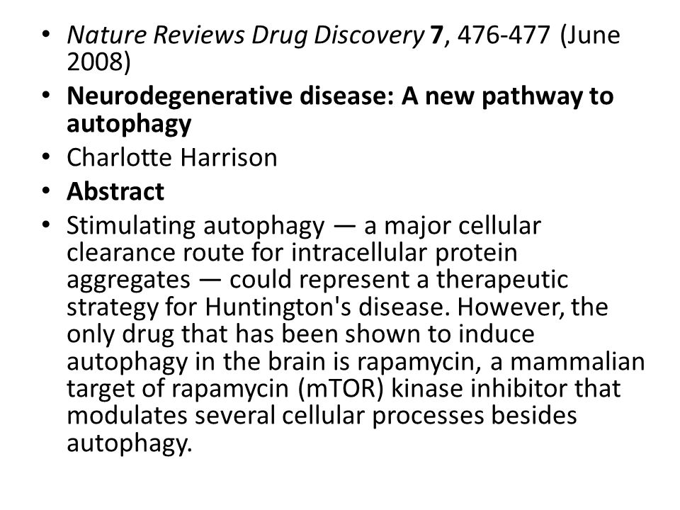 Nature Reviews Drug Discovery 7, 476-477 (June 2008)