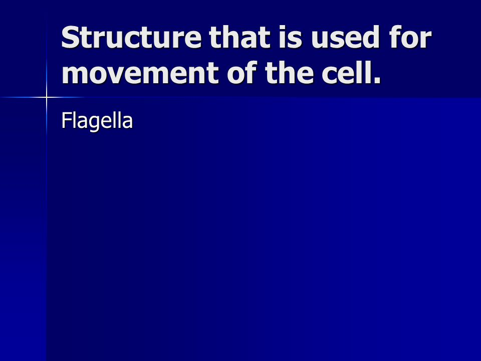 Structure that is used for movement of the cell.