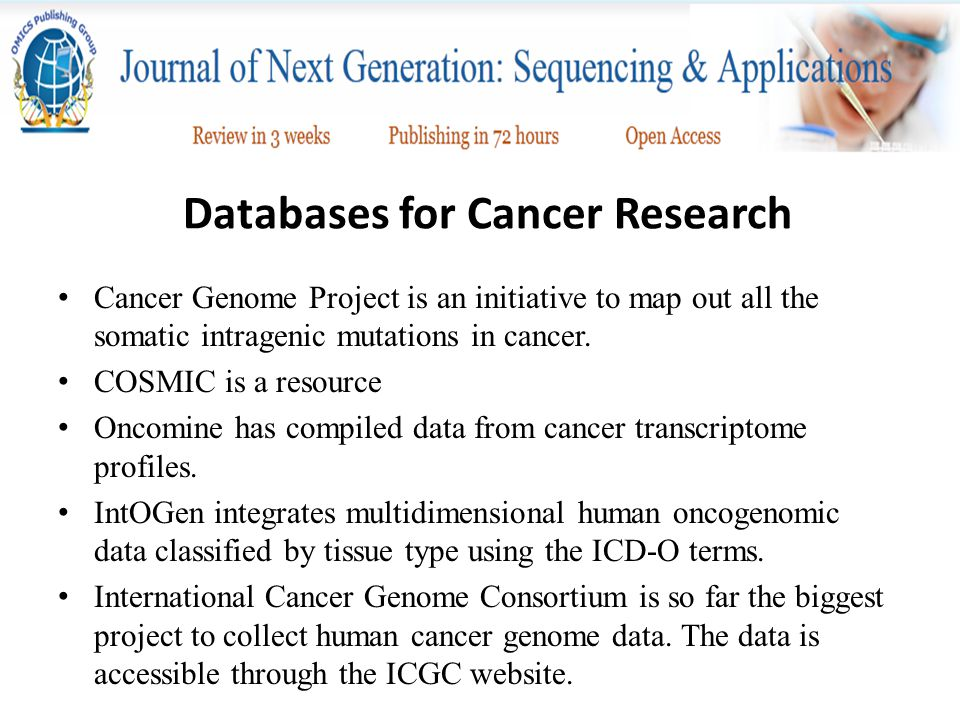 Databases for Cancer Research