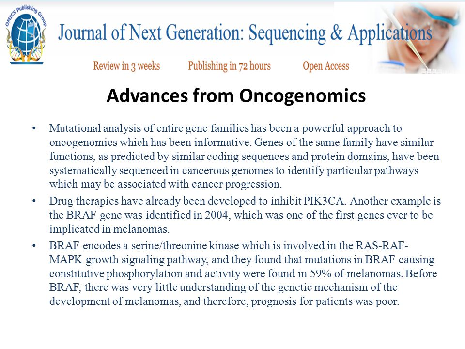 Advances from Oncogenomics