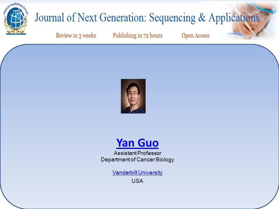 Yan Guo Assistant Professor Department of Cancer Biology