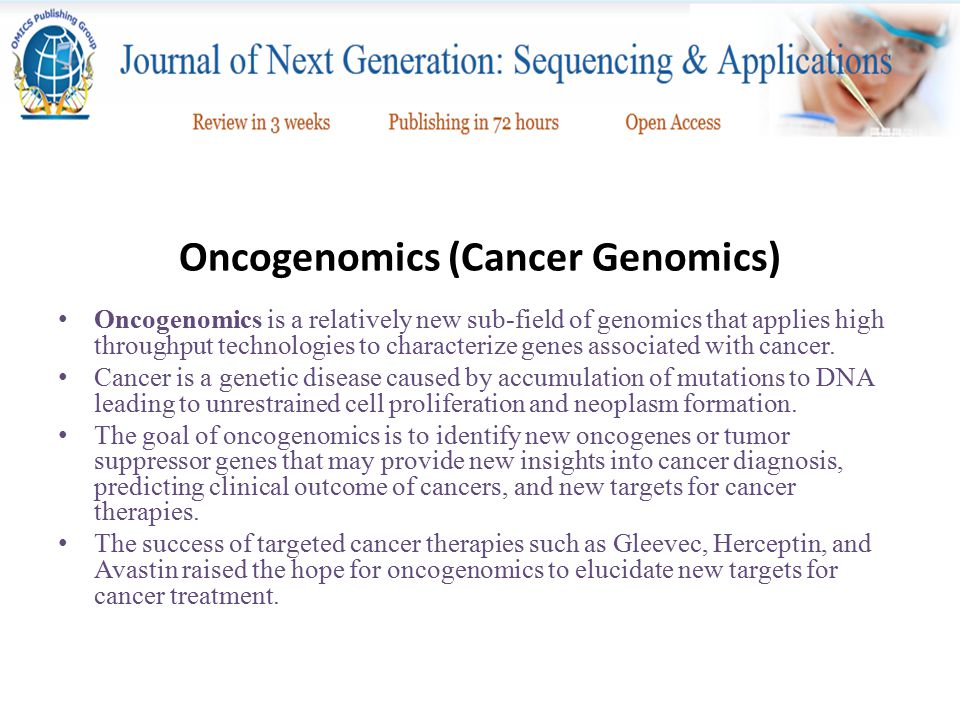 Oncogenomics (Cancer Genomics)