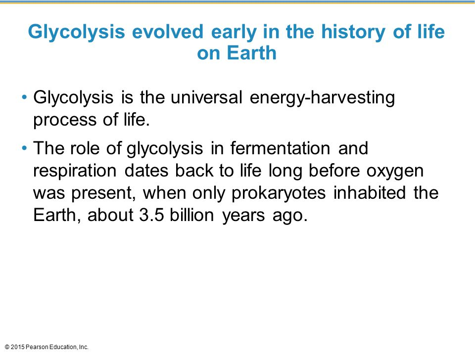 Glycolysis evolved early in the history of life on Earth