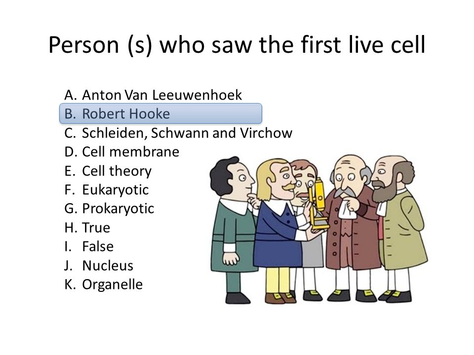 Person (s) who saw the first live cell