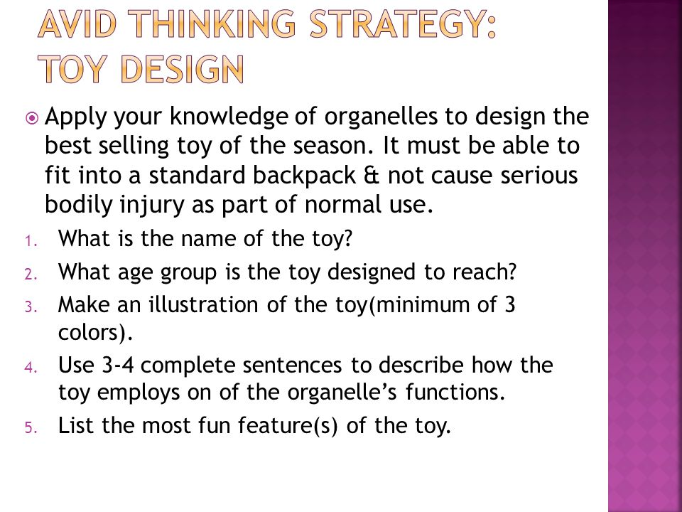 AVId Thinking Strategy: Toy Design