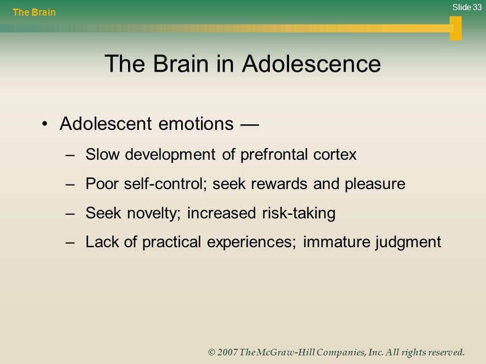 The Brain in Adolescence