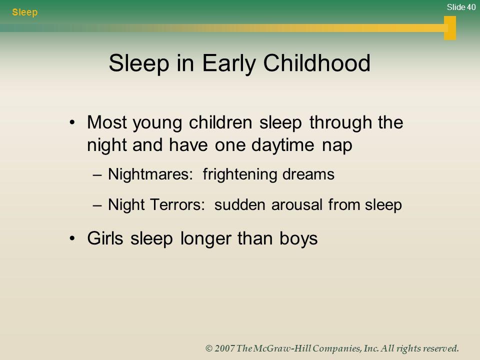 Sleep in Early Childhood