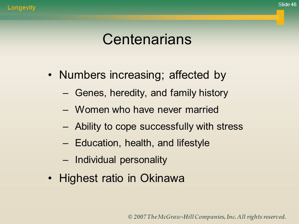 Centenarians Numbers increasing; affected by Highest ratio in Okinawa
