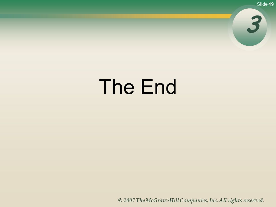3 The End