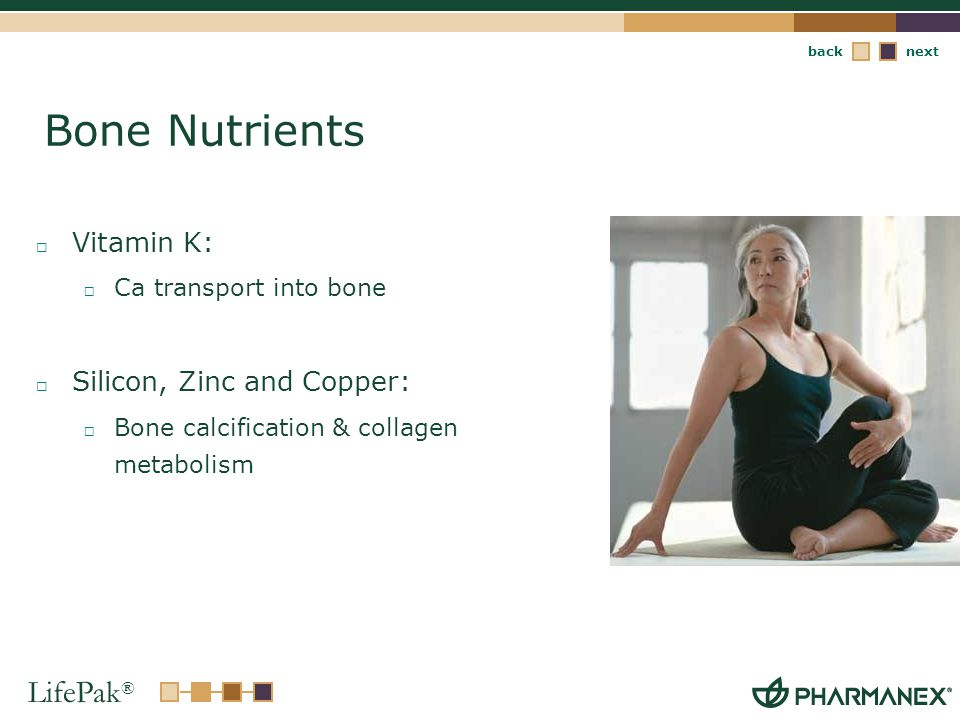 Bone Nutrients Vitamin K: Silicon, Zinc and Copper: