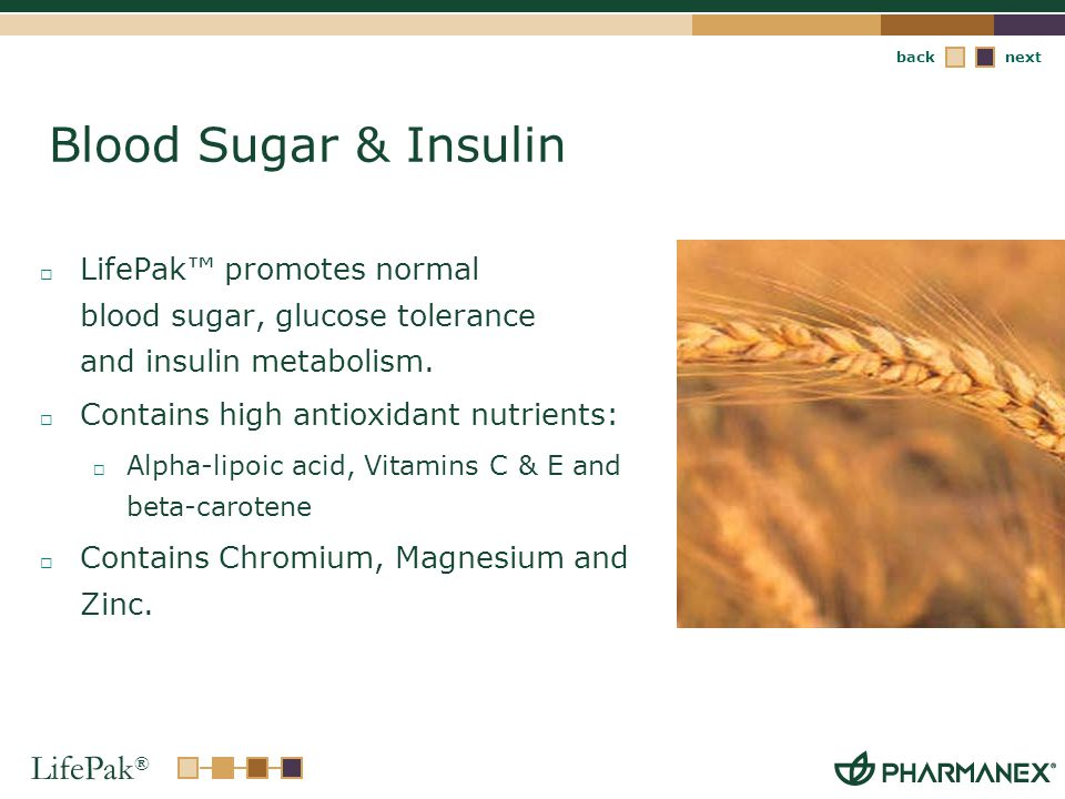 Blood Sugar & Insulin LifePak™ promotes normal blood sugar, glucose tolerance and insulin metabolism.