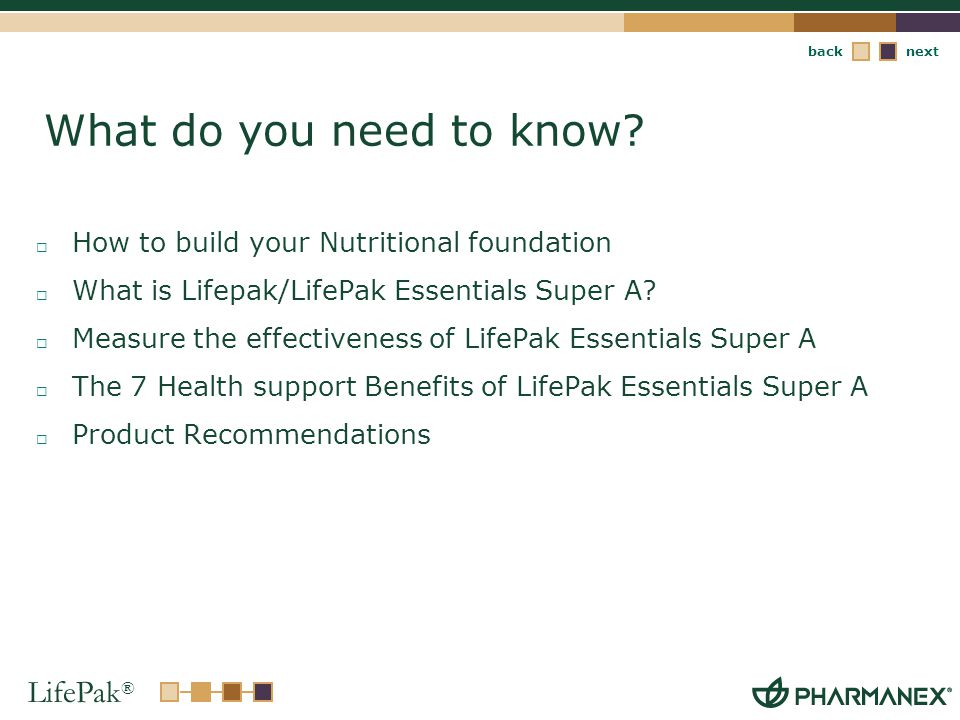 What do you need to know How to build your Nutritional foundation