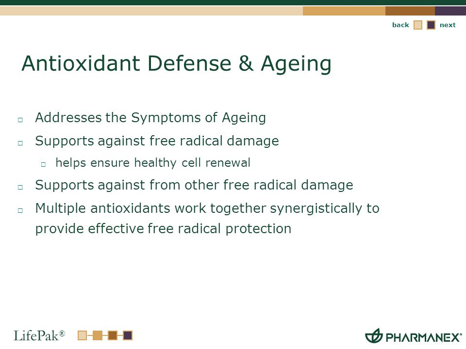 Antioxidant Defense & Ageing