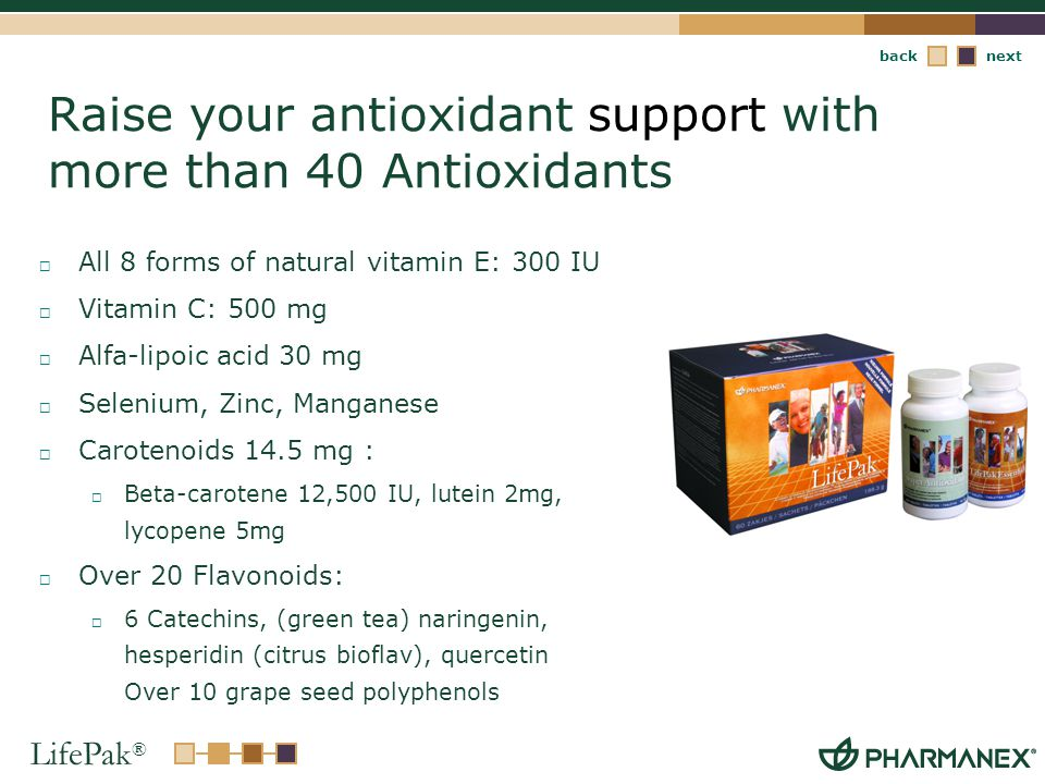 Raise your antioxidant support with more than 40 Antioxidants