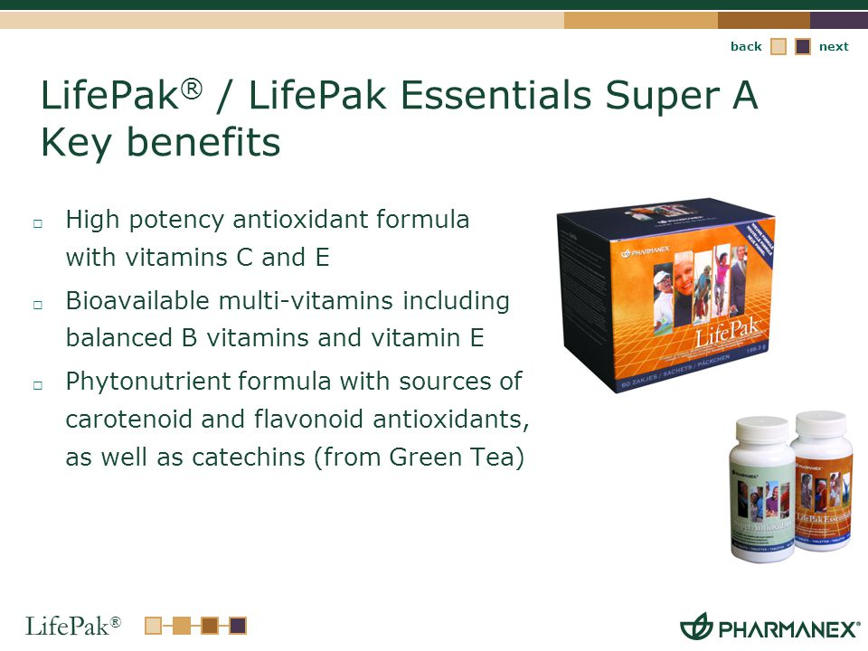 LifePak® / LifePak Essentials Super A Key benefits
