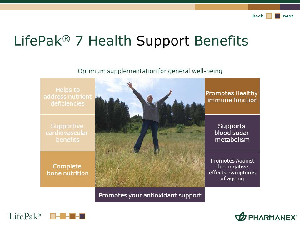 LifePak® 7 Health Support Benefits
