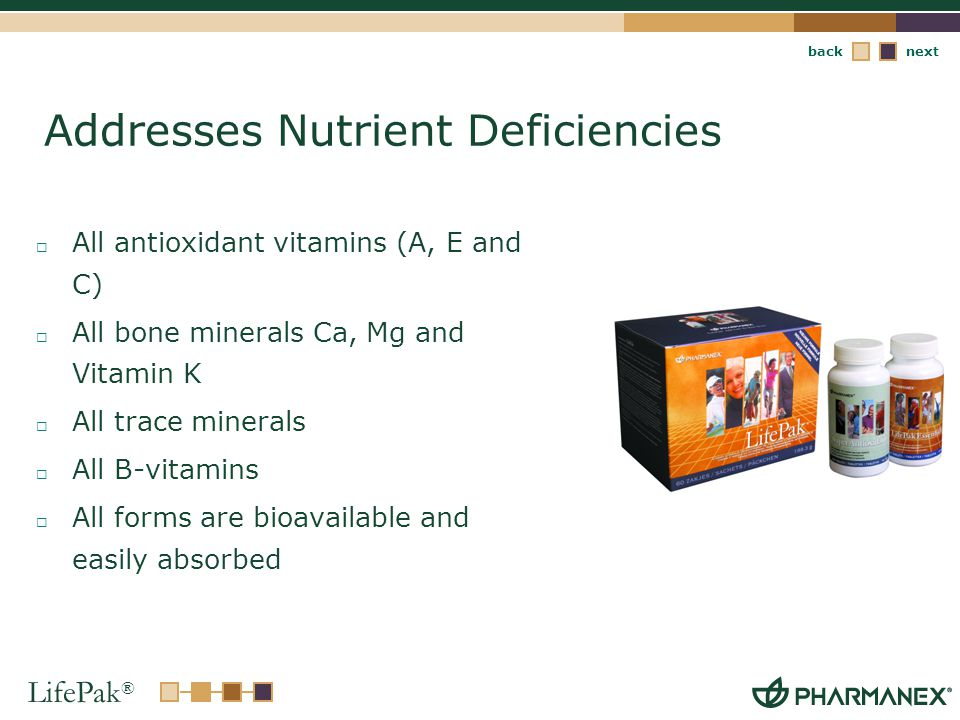 Addresses Nutrient Deficiencies