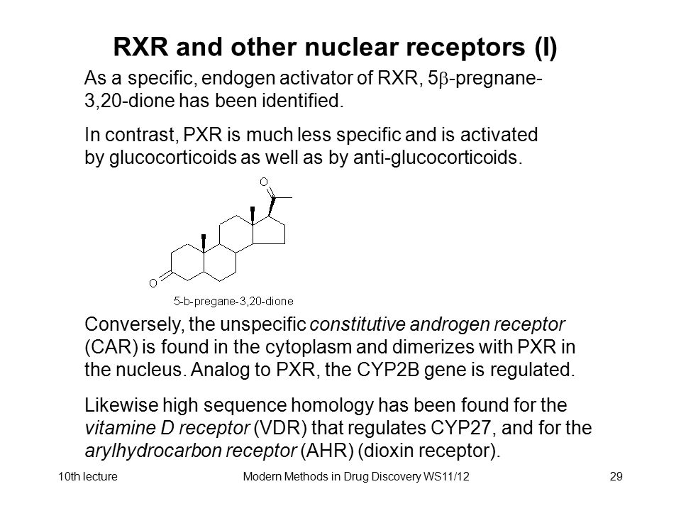 RXR and other nuclear receptors (I)