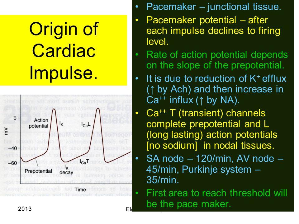 Origin of Cardiac Impulse.