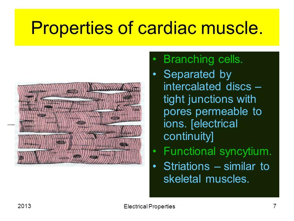 Properties of cardiac muscle.