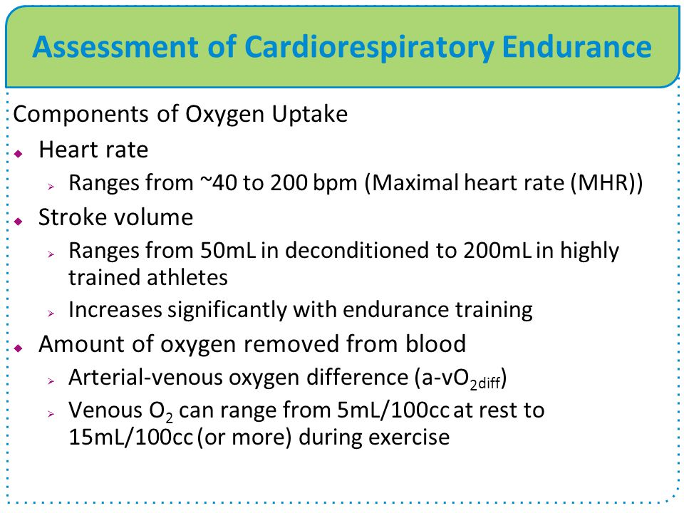 Assessment of Cardiorespiratory Endurance