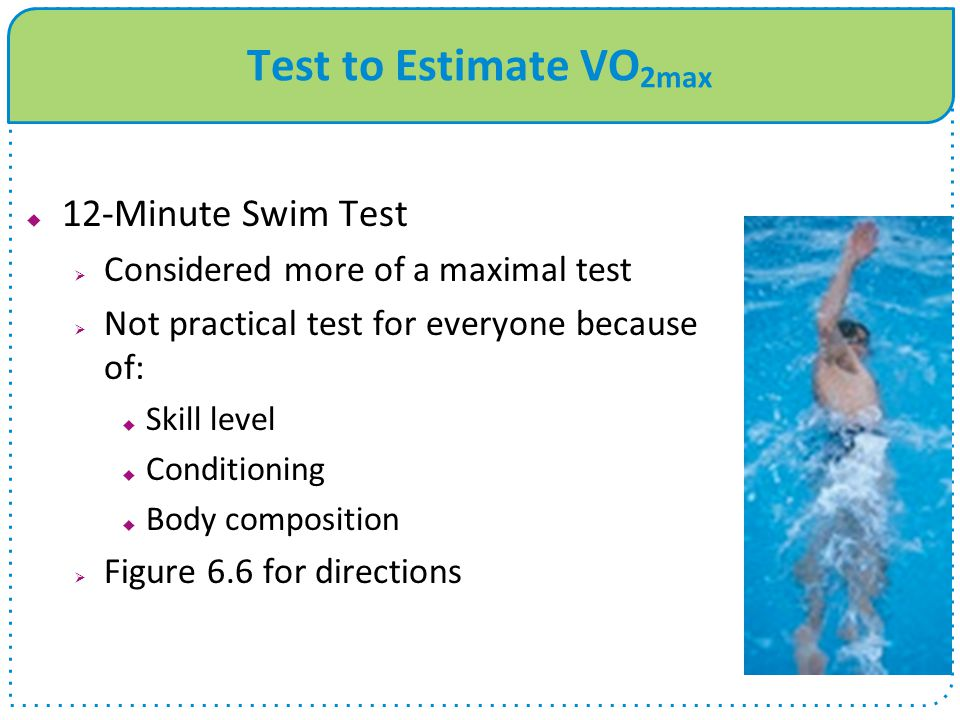 Test to Estimate VO2max 12-Minute Swim Test