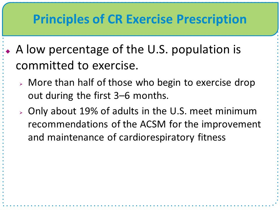 Principles of CR Exercise Prescription