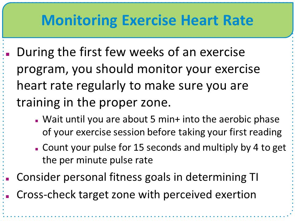 Monitoring Exercise Heart Rate