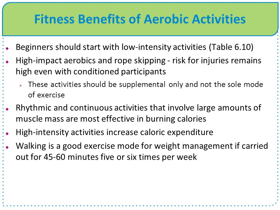Fitness Benefits of Aerobic Activities