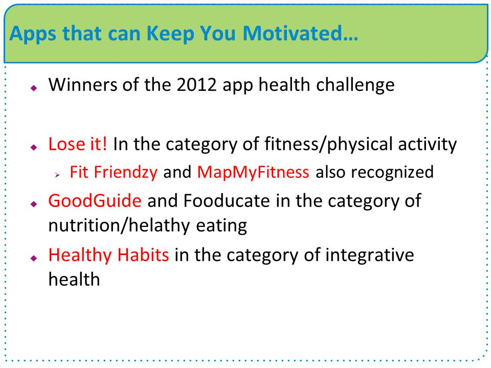 Apps that can Keep You Motivated…