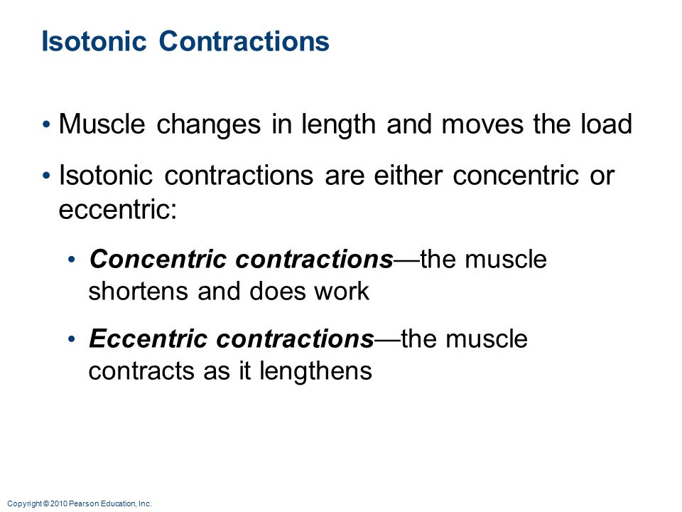 Isotonic Contractions