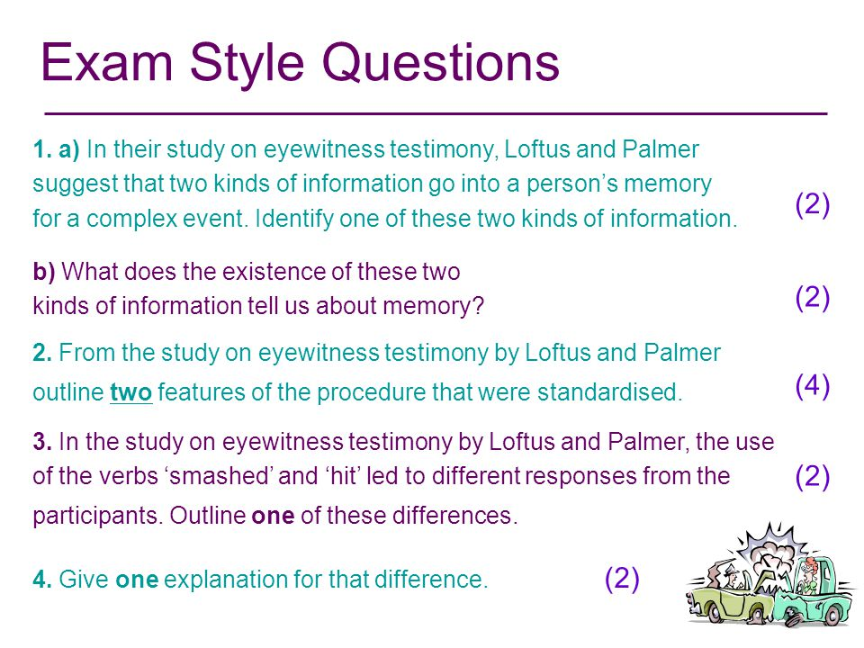 Exam Style Questions (2) (2) (4) (2) (2)