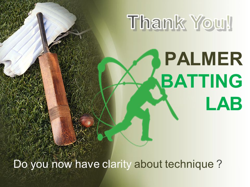 PALMER BATTING LAB Thank You!