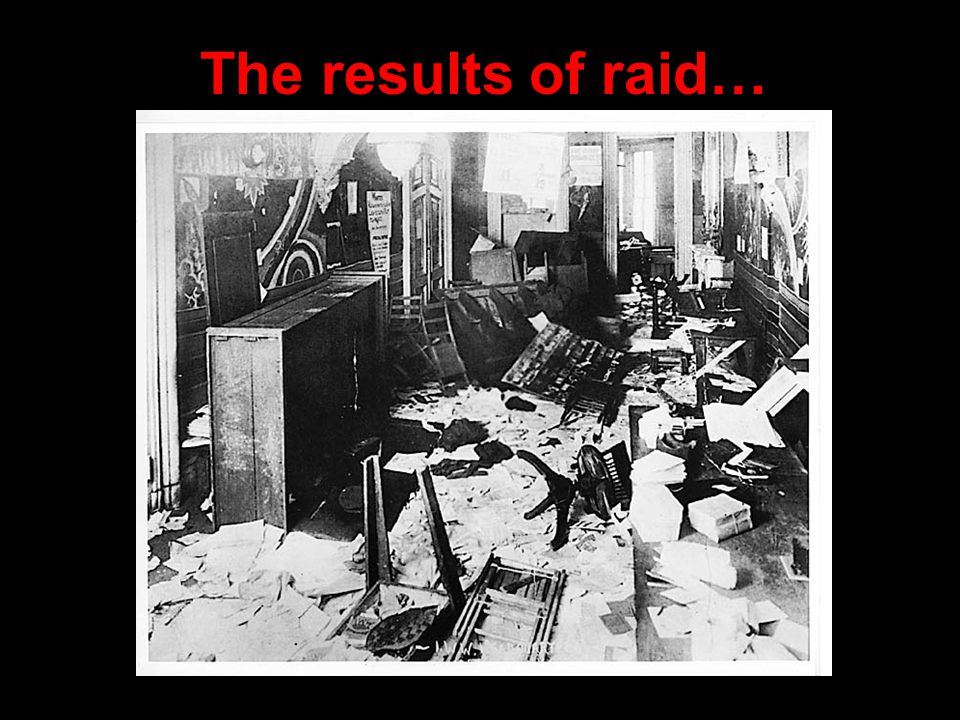 The results of raid…