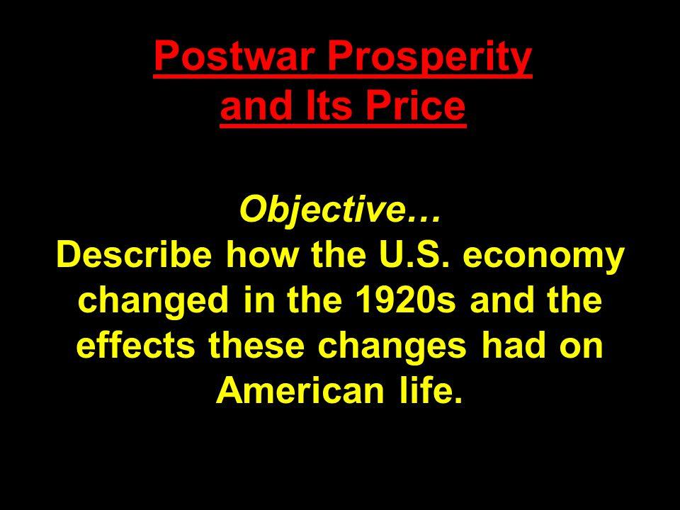 Postwar Prosperity and Its Price