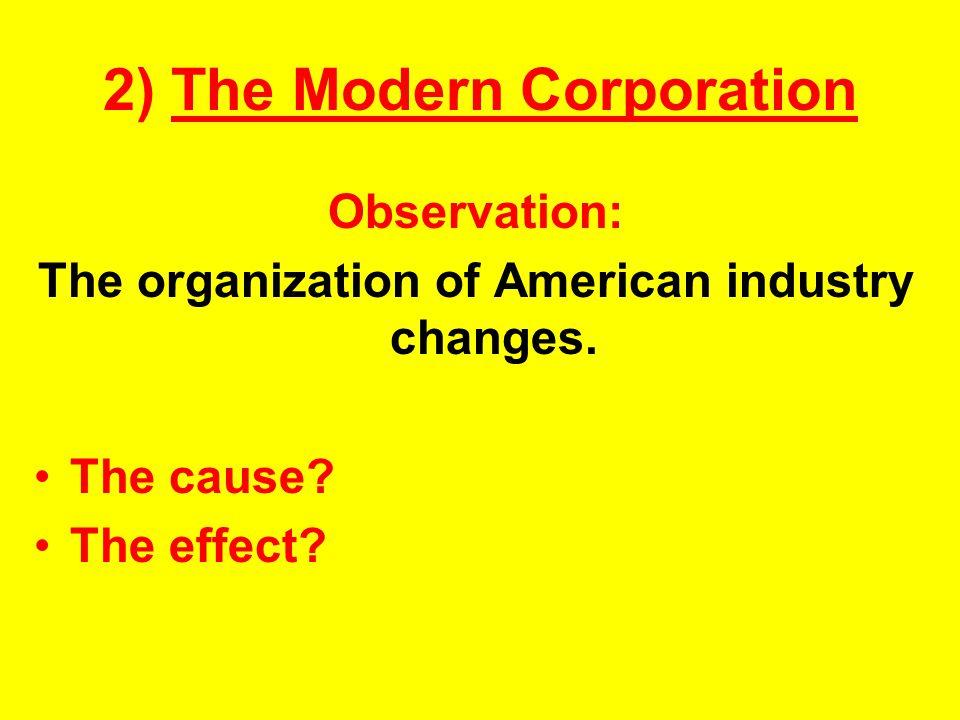 2) The Modern Corporation