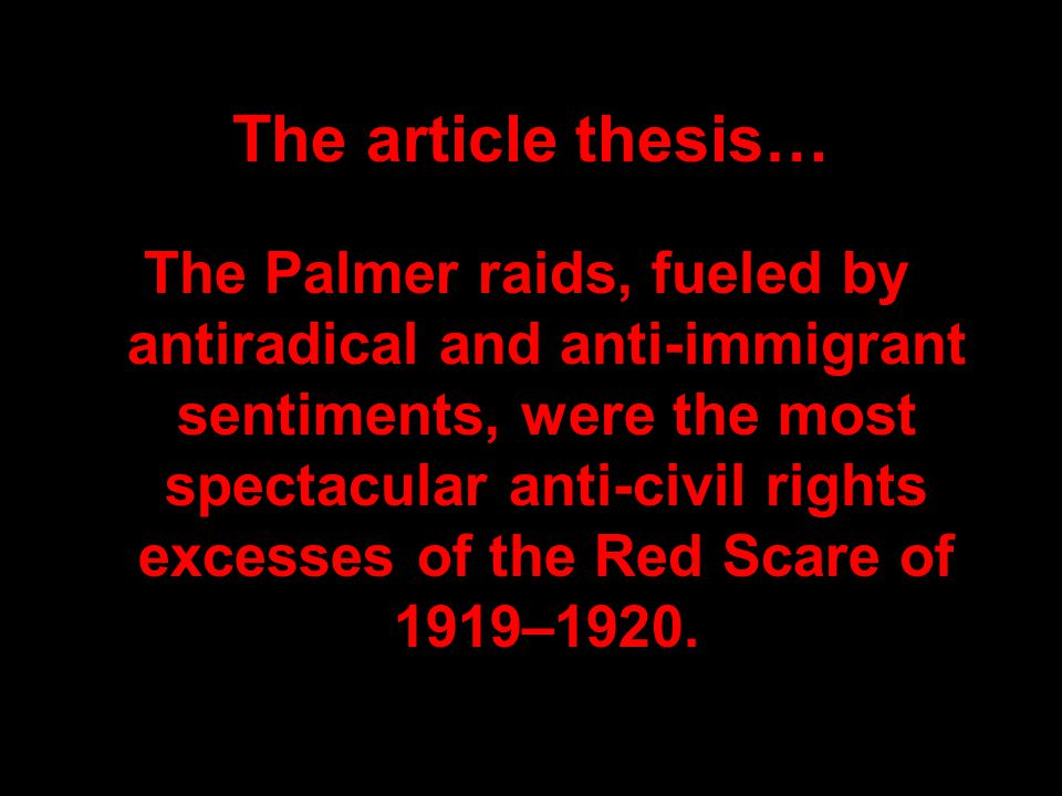 The article thesis…