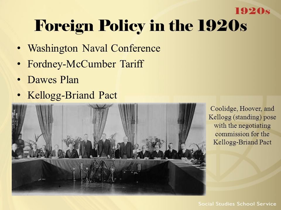 Foreign Policy in the 1920s Washington Naval Conference