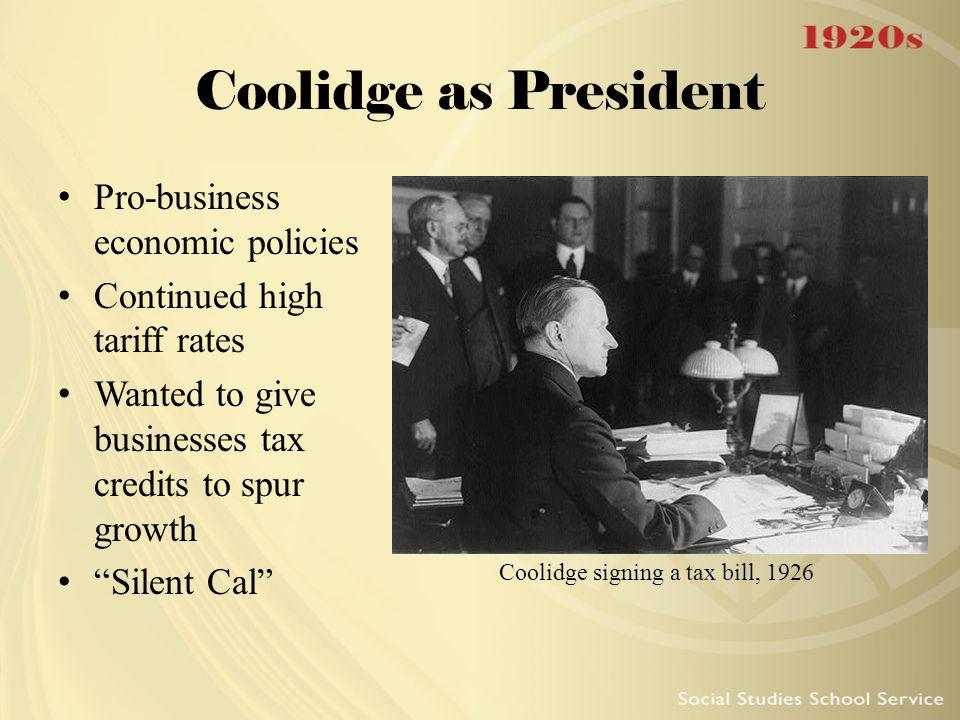 Coolidge signing a tax bill, 1926