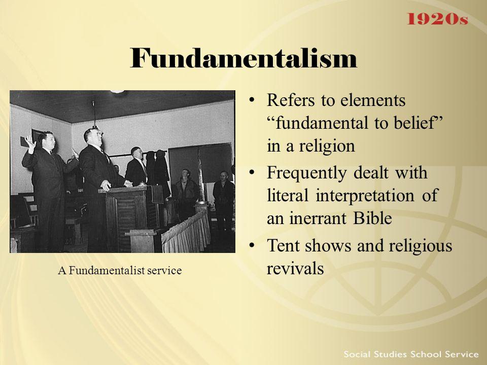 A Fundamentalist service