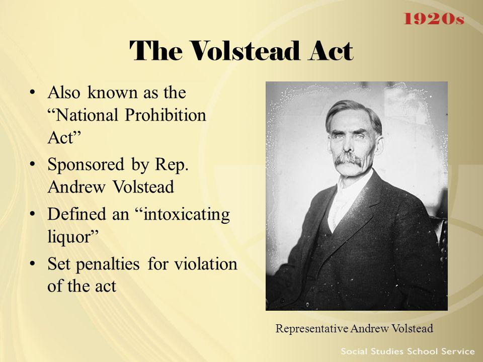 Representative Andrew Volstead