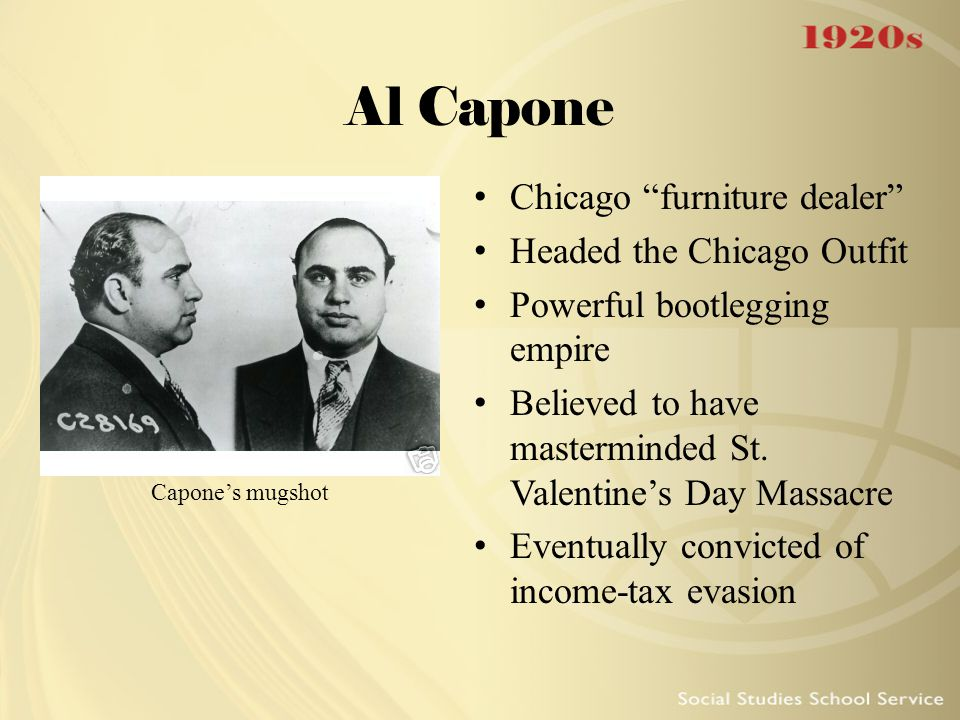 Al Capone Chicago furniture dealer Headed the Chicago Outfit