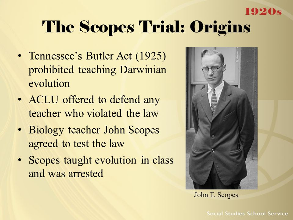 The Scopes Trial: Origins