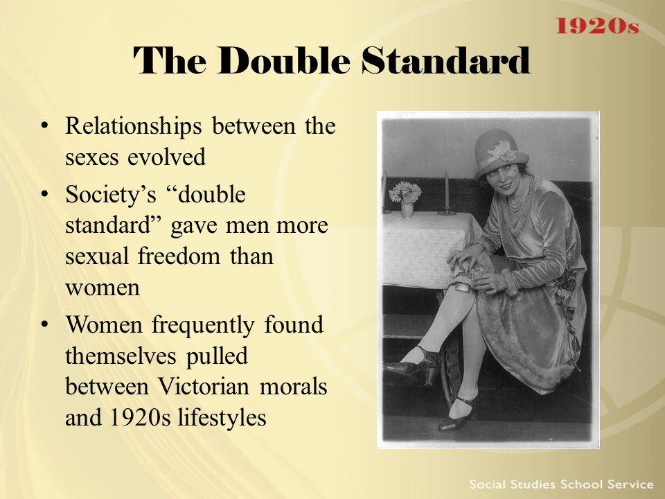 The Double Standard Relationships between the sexes evolved