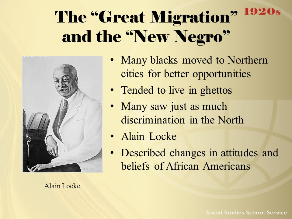 The Great Migration and the New Negro