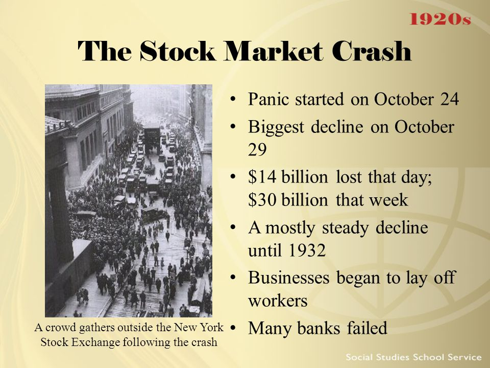 The Stock Market Crash Panic started on October 24
