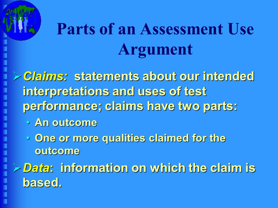 Parts of an Assessment Use Argument