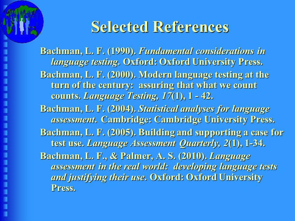 Bachman, IAKELE Conference